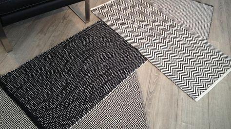 impressionnant tapis couloir noir et blanc | décoration française