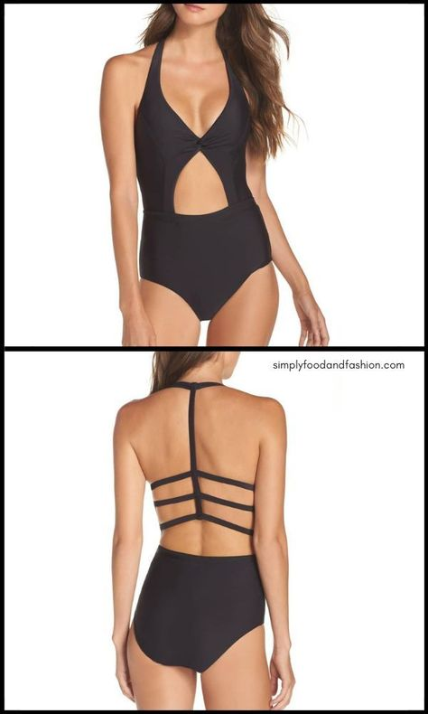 2a4bd14b97c7a0 Sexy but still modest. Loving this one piece black swim suit for 2019.  Beach Vacation || Cruise wear || Pool || one piece || Summer clothes || #ad