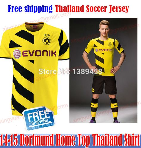 b29df192bdf Find More Sports Jerseys Information about Free Shipping 14 15 Dortmund  Home Soccer Jersey 2015 Top Thailand Football Shirt Customize Name Number  Reus