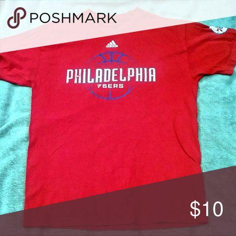bf77ab1b34b4 Philadelphia 76ers Mens T Shirt Medium adidas NBA Philadelphia 76ers  throwback shirt. Has the retro type look. Very good condition.