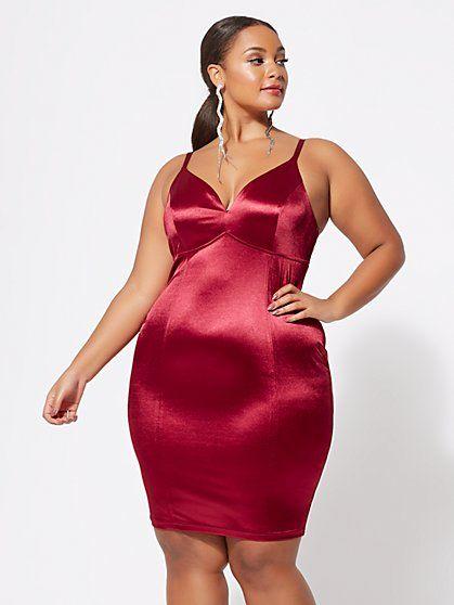 Camille Satin Bodycon Dress in 2019 | fashion | Satin bodycon dress ...