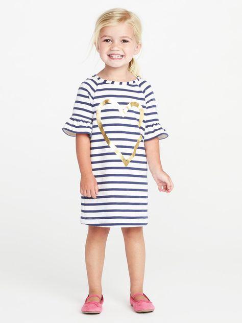 03e6e2742 French-Terry Shift Dress for Toddler Girls