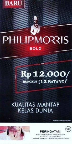 Phillip Morris Bold 2019 Periklanan Peringatan