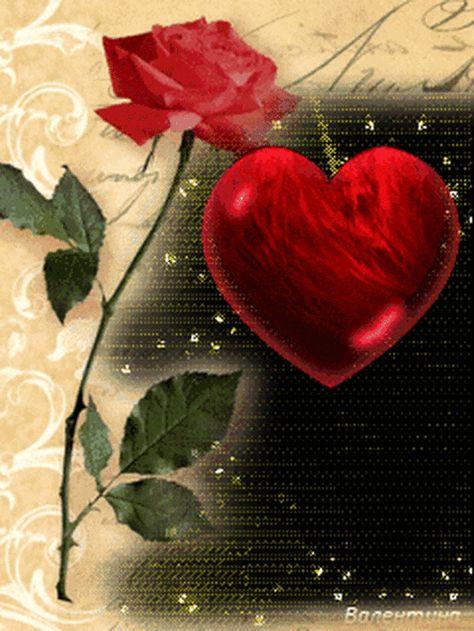 Beautiful Heart Rose Gif