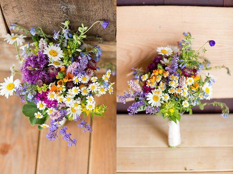 Brautstrauß aus Wildblumen