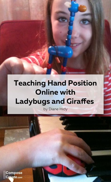 How to teach beautiful hand position (even in an online context) - Fantastic tips from Diane Hidy. #piano #hand #position #technique #online #teacher #teaching #tips