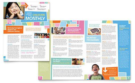 21 best School Newsletters images on Pinterest Design, Blog and - sample preschool brochure