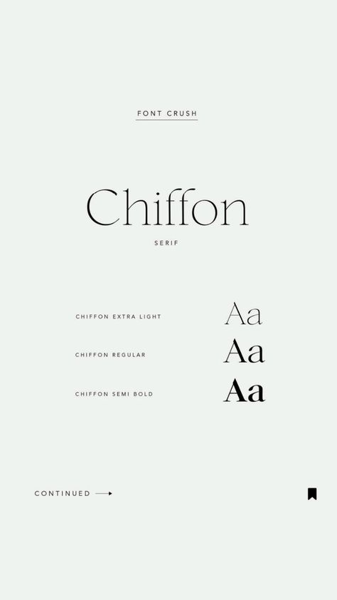 Our font crush of the week 🤍