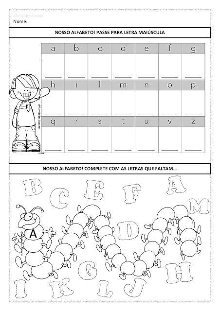 Atividades Para Alfabetizacao Alfabeto Palavras E Trabalhando