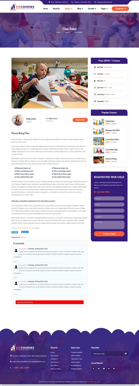 Sj KidCourses - Class Detail Page