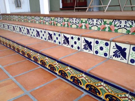 My new backyard Mexican tile patio! Love it!