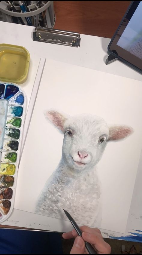 Baby Farm Animal Art Prints from Watercolor Luv are the perfect finishing touch to your modern farmhouse nursery or kids room! Shipped or printable options and dozens of designs to choose from—all art is unique and hand painted by Emily Olson