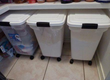 Kitchen Storage Ideas Diy Trash Bins 31 Ideas Flour Storage Container Dog Food Storage Containers Dry Food Storage