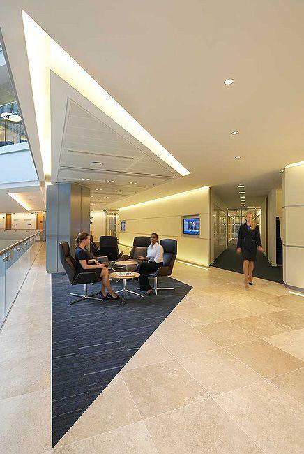 Contemporary Interior Design Lighting For Kpmg S Building At Canary Wharf Contemporary Interior Design Lighting Design Interior Lighting Design Design Awards