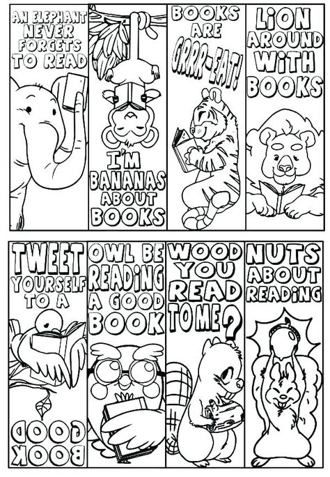 Or E Bookmarks Print And Color Yourself
