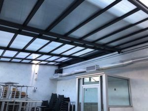 Cafe Rubio Retractable Roof Corona Ny America S Leading Custom Manufacturer Of Retractable Enclosure And Roof Systems Metal Roof Cost Cheap Roofing Roof Replacement Cost