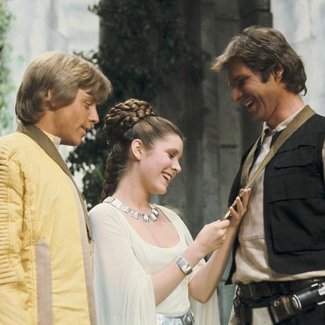 Turner Classic Movies — Mark Hamill, Carrie Fisher, and Harrison Ford in...