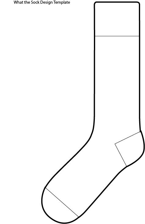 Blank Sock Template With Images Socks Drawing Socks