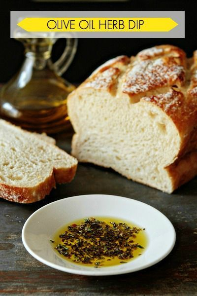 Make this easy Olive Oil Herb Dip recipe to serve with bread or drizzle on top…