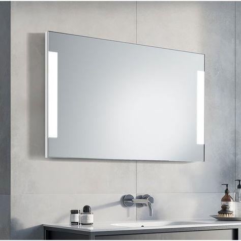 Dolium Led Illuminated Bathroom Mirror Ruke Size 65cm H X 120cm W