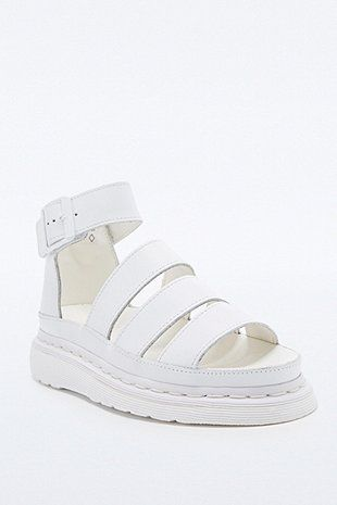 Dr. Martens Clarissa Sandal Shoes in White - Urban Outfitters