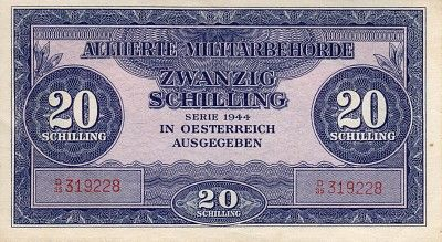 Scwpm P107a Tbb B306scwpm P107a Tbb B306 20 Schilling Austrian Banknote Very Fine Vf 1944 Bank Notes Paper Money Social Security Card