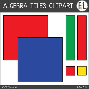 This Sweet Little Clipart Set Consists Of Everything You Need To Re Create Algebra Tiles In Your Printable And Digital Resources Clip Art Algebra Math Clipart