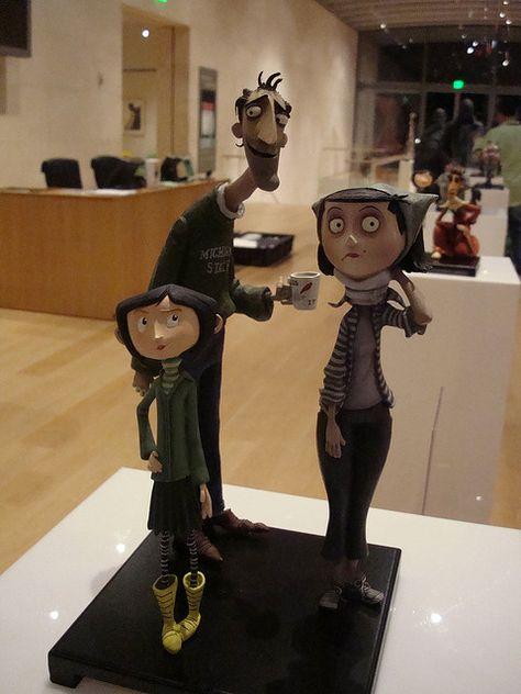 Coraline figures at Tex Avery award presentation