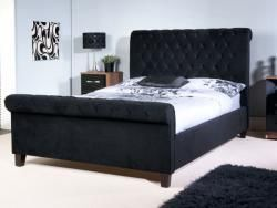 Lesina Black Fabric King Size Bed Frame Kingbedframesale Black Upholstered Bed Cheap Bed Frame Upholstered Bed Frame