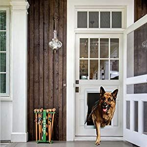 Amazon Com Medium Single Flap Heavy Duty Dog Doors For Exterior Doors Solid Aluminum Frame With Magnetic C In 2020 Dog Door Best Dog Door Sliding Glass Door Screen