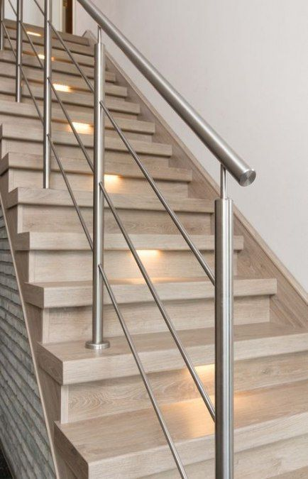 54 Trendy Ideas For Modern Stairs Railing Ideas Stainless Steel Stair Railing Ideas Ideas Mo Modern Stair Railing Stair Railing Design Staircase Railing Design