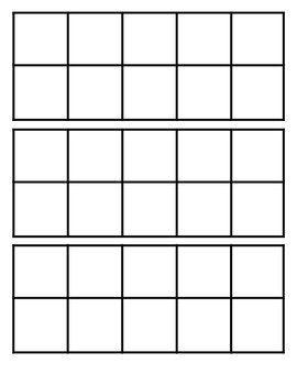 Blank Tens Frames Ten Frame Kindergarten Math Ten Frames Ten Frames Kindergarten