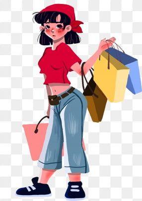 شخصية أنثى بنات ملابس نسائية والأمريكي الهاتف المحمول التوضيح Png وملف Psd للتحميل مجانا Female Girl Clothes For Women Female