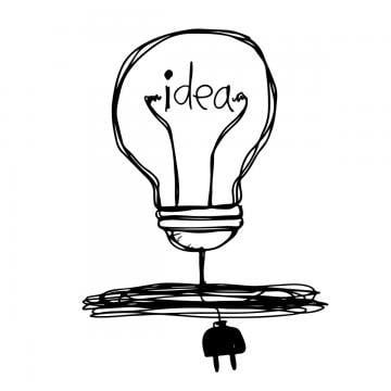 Hand Drawn Light Bulb Icon Png And Vector In 2020 Light Bulb Icon How To Draw Hands Light Icon