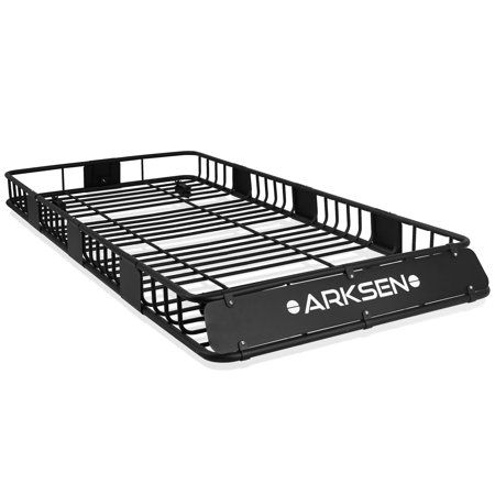 Arksen 84 X 39 X 6 Universal Roof Rack Cargo Extension Car Top Luggage Holder Carrier Basket Suv Camping Black Walmart Com In 2020 Roof Rack Top Luggage Suv Camping