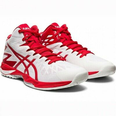 Asics Volleyball Men S Shoes V Swift Ff Mt 2 White Red 1053a018 With Tracking Ebay In 2020 Asics Volleyball Shoes Men S Shoes Asics