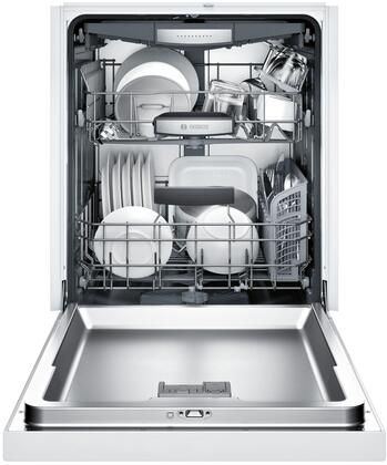 Bosch Shem78w52n 800 Series 24 Inch Built In Recessed Handle Dishwasher With 6 Wash Cycles In 2020 Steel Tub Built In Dishwasher Integrated Dishwasher