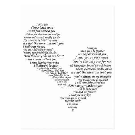 I Miss You - Broken Separated Heart Postcard   Zazzle.com