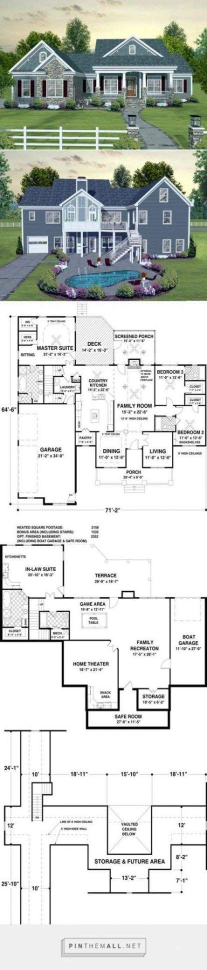 Home Plans With Walkout Basement Layout Bedrooms 57 Ideas House Plans House Layouts House Blueprints