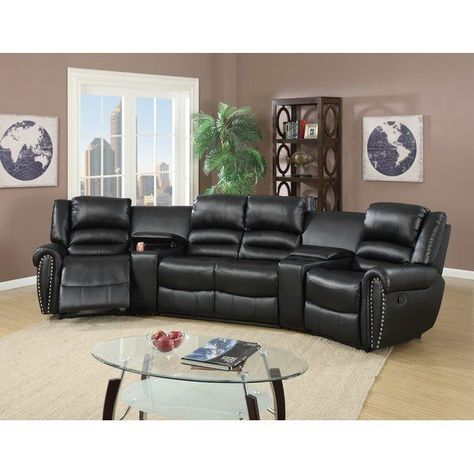 Fine Flick Home Theater 2 Recliners 2 Consoles Reclining Evergreenethics Interior Chair Design Evergreenethicsorg