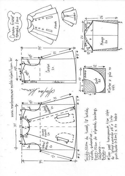 9254d500b2c2f4 List of Pinterest marlene mukai moldes infantis casaco images ...