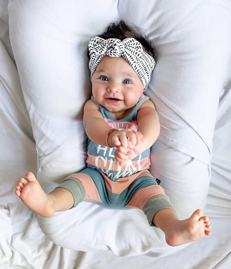 Okay, these are my favs - Set: Baby Headbands (Buttercup Floral Flat Bow, Dusty Rose Top Knot & Ink Blots Top Knot So Cute Baby, Baby Kind, Cute Baby Clothes, Cute Kids, Cute Babies, Cute Toddlers, Cute Children, Cute Baby Girl Outfits, Toddler Outfits