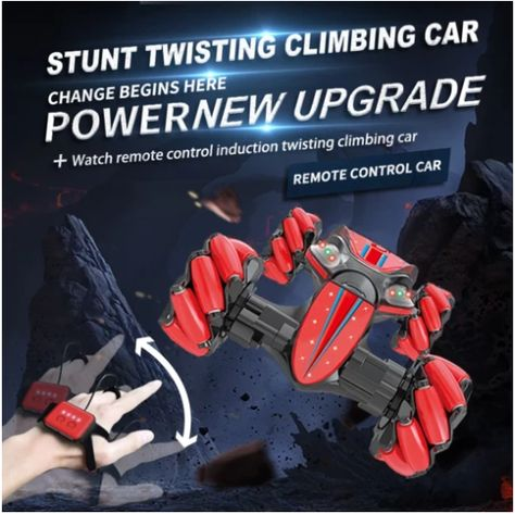 Gesture Control Double Sided Stunt Car, Blue