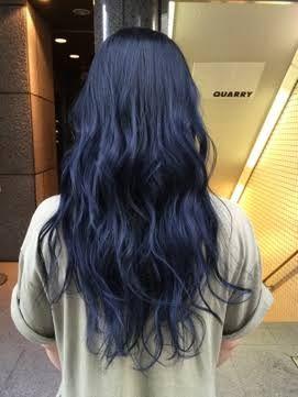 ブルーブラック 髪色 の画像検索結果 ヘアカラー 青 ヘア