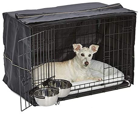Amazon Com Icrate Dog Crate Starter Kit 36 Inch Dog Crate Kit Ideal For Medium Large Dogs Weighing 41 70 Pounds Dog Crate Cover Dog Crate Fleece Pet Bed