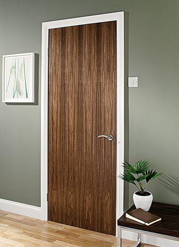 Walnut Door Like The No Panel Finish Doors Pinterest Internal