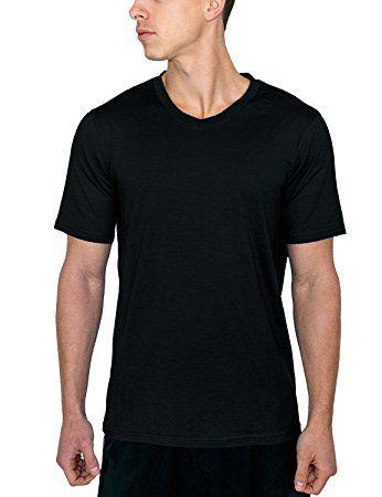 Mens Merino Wool T-Shirt V Neck Athletic Shirt Wicks Away Moisture Woolx Ashton
