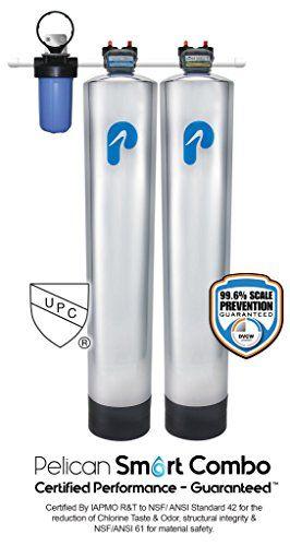 Pelican Pse 1800 Whole House Water Filter Water Softener Salt Free For 1 3 Bathrooms Water Softener Water Softener Salt Water