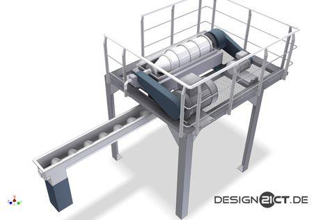 Aufstellung REA Dekanteur-Zentrifuge - zusammenbau_zentrifuge