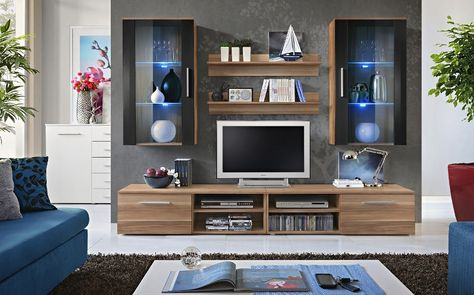 Entertainment Units Living Room Interior Design Ideas Oregon 8 Tv Wall Unit In 2018 Modern Contemporary For Cabinets Oak